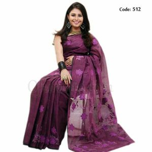 Hand Embroidered Pure Cotton Saree - 512