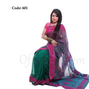 Hand Embroidered Boutique Saree - 601