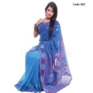 Hand Embroidered Boutique Saree - 602