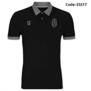 Juventus Black Sports Polo T-Shirt-ESS17