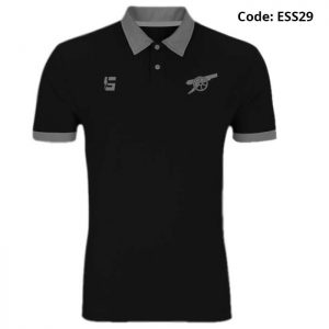Arsenal Gunners Black Sports Polo T-Shirt-ESS29