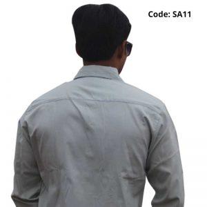 Light Pastel Green Formal/Casual Cotton Shirt-SA11