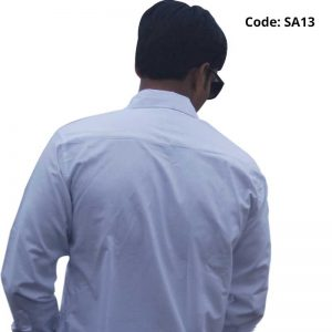 White Solid Formal/Casual Cotton Shirt-SA13