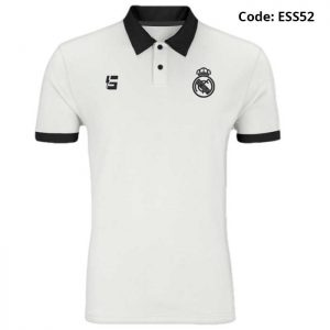 Real Madrid White Sports Polo T-Shirt-ESS52