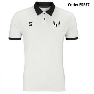 Messi Classic Logo White Sports Polo T-Shirt-ESS57