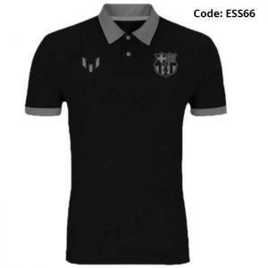 Barcelona - Messi Classic Black Sports Polo T-Shirt (Special Edition)-ESS66