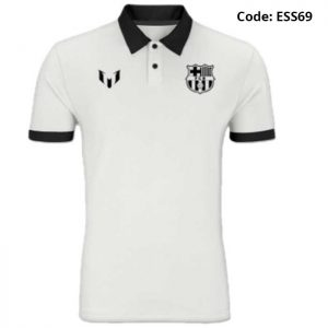 Barcelona - Messi Classic White Sports Polo T-Shirt (Special Edition)-ESS69