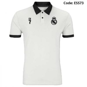 Real Madrid - CR7 White Sports Polo T-Shirt (Special Edition)-ESS73