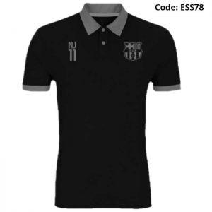 Barcelona - Neymar Jr 11 Black Sports Polo T-Shirt (Special Edition)-ESS78
