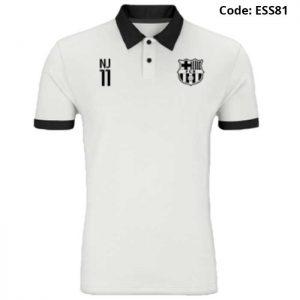 Barcelona - Neymar Jr 11 White Sports Polo T-Shirt (Special Edition)-ESS81