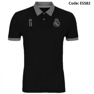 Real Madrid - Gareth Bale 11 Black Sports Polo T-Shirt (Special Edition)-ESS82