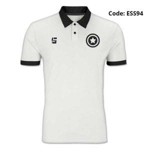 Captain America White Polo T-Shirt-ESS94