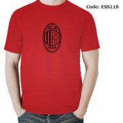 AC Milan Logo Men's Round Neck T-Shirt-ESS110