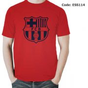 Barcelona Logo Men's Round Neck T-Shirt-ESS114