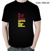 Liverbird on LFC Men's Round Neck T-Shirt-ESS120