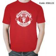 Manchester United Logo Men's Round Neck T-Shirt-ESS123