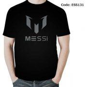 Messi Classical Logo Men's Round Neck T-Shirt-ESS131