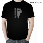Messi Face Men's Round Neck T-Shirt-ESS134