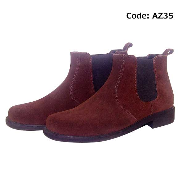 Chelsea suede boot Brown-AZ35