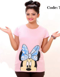 Minnie Ladies Round Neck T-Shirt-TA73