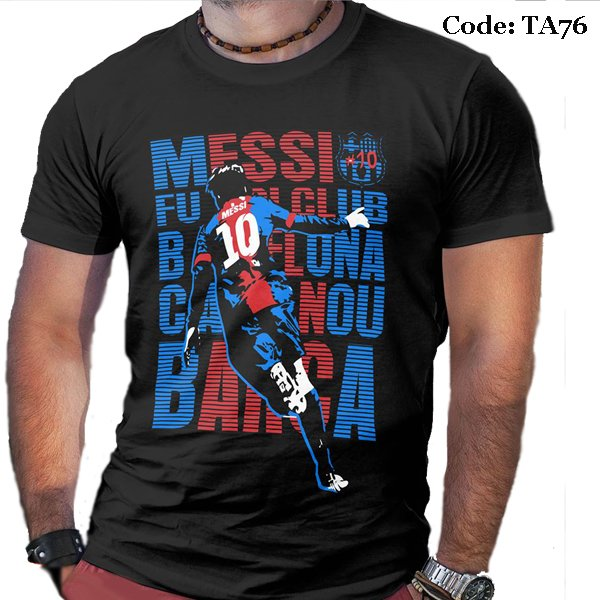 Messi Celebration Men's Round Neck T-Shirt-TA76