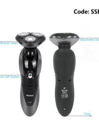 High Quality KM-RSCX-9006 3D razor Men Rechargeable Washable Cordless Rotary Electric Shaver Hair Mustache Razor Triple Blade
