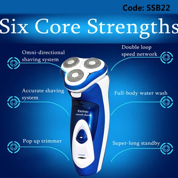 Kemei KM-5880 Electric Razor Rechargeable Shaver