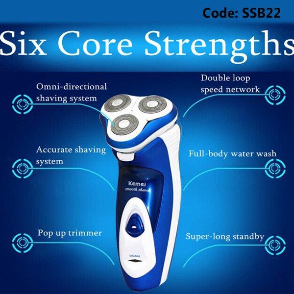 Kemei KM-5880 Electric Razor Rechargeable Shaver