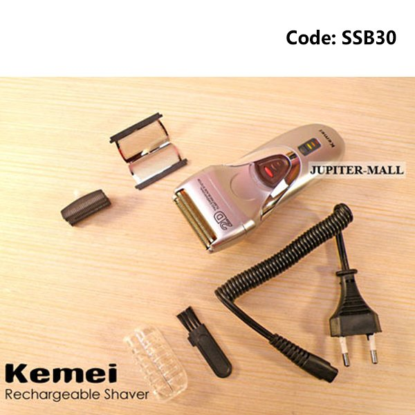 Kemei KM-116B Electric Rechargeable Mens Shaver Cum Trimmer