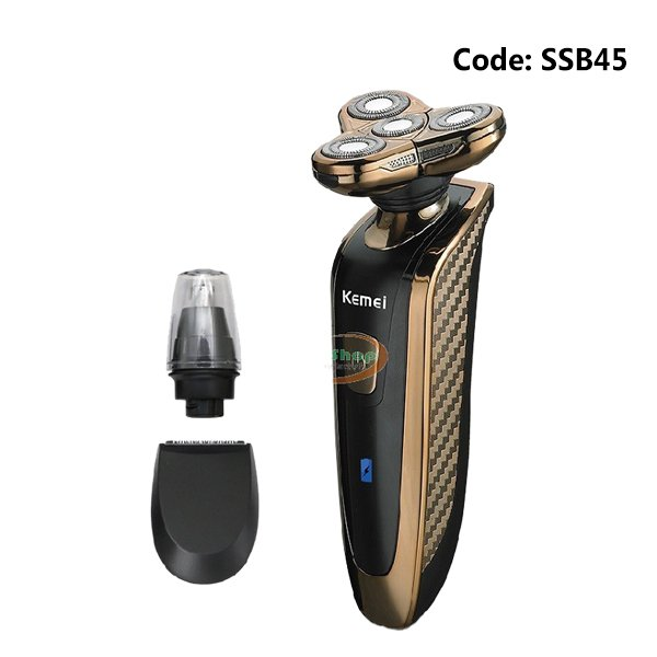 Men's Intelligent KM-363 4D Genuine Metal Body Electric Shaver