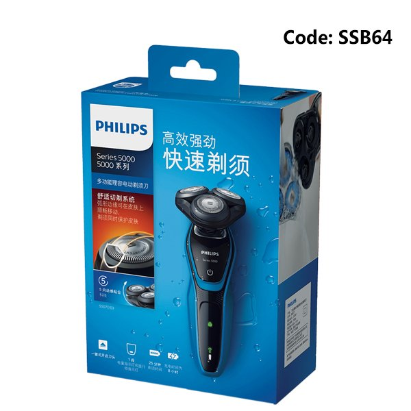 Philips S5077 Electric Rechargeable Washable Shaver For Men