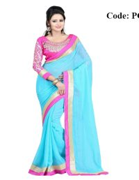 Pink Cats Soft Georgette Saree