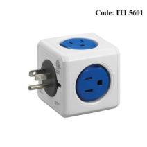Allocacoc 3pin 7120BL 5 Port Blue Power Cube - ITL5601