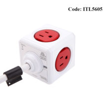 Allocacoc 7320 Extended 1.5m cable 5 Port 3pin Red Power Cube - ITL5605