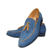 AaZuBa Tassel Loafer On Denim