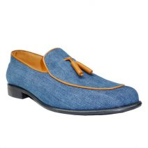 AaZuBa Tassel Loafer On Denim
