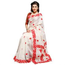 Classic Boutique Khaddi Silk With Hand Embroidery & Cutwork Applique Saree 815