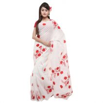 Classic Boutique Pure Coton With Hand Embroidery Saree 832