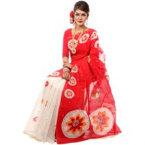 Classic Boutique Colorful Boishakhi Hand Skin Print & Toly Saree 898