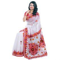 Classic Boutique Pure Red Muslin Silk Saree 970