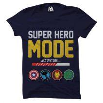 Crazy Mart Super Hero Mode Activating Men's Round Neck T-Shirt CMT107