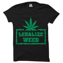 Crazy Mart Legalize Weed Men's Round Neck T-Shirt CMT114