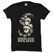 Crazy Mart Sherlock Homes Men's Round Neck T-Shirt CMT117