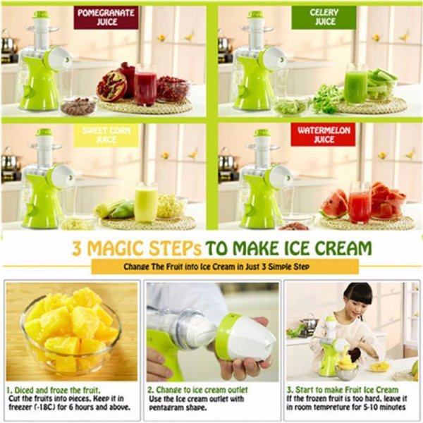 Giocoso 2 In 1 Juicer & Ice Cream