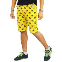 Lakbuas Yellow Cargo Three Quarter Pant For Men GPH17