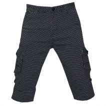 Lakbuas Black Three Quarter Pant For Men GPH220
