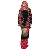 Mahin Boutiques House Lilen Screen Print Dress MBH248