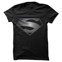 SUPERMAN BLACK Men's Round Neck T-Shirt By The Apparel