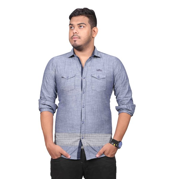 Lavelux Soft Cotton Casual Long Sleeve Shirt LMCSO70