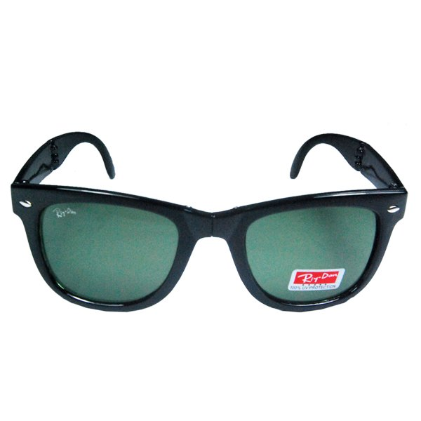 Riy.Don Black Green Folding Sunglass